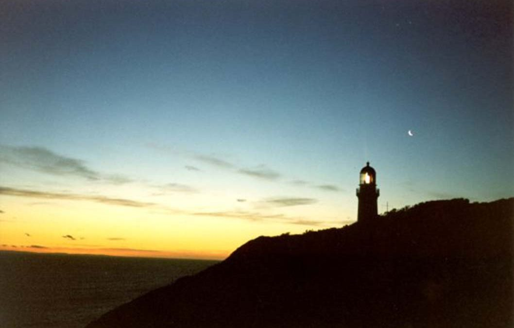 The Cape Schanck Lighthouse at dusk