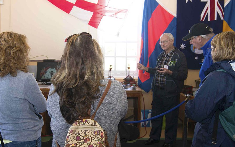 Rob Isedale describes the working of an acetylene flasher at Point Perpendicular - International Lighthouse Heritage weekend 2016
