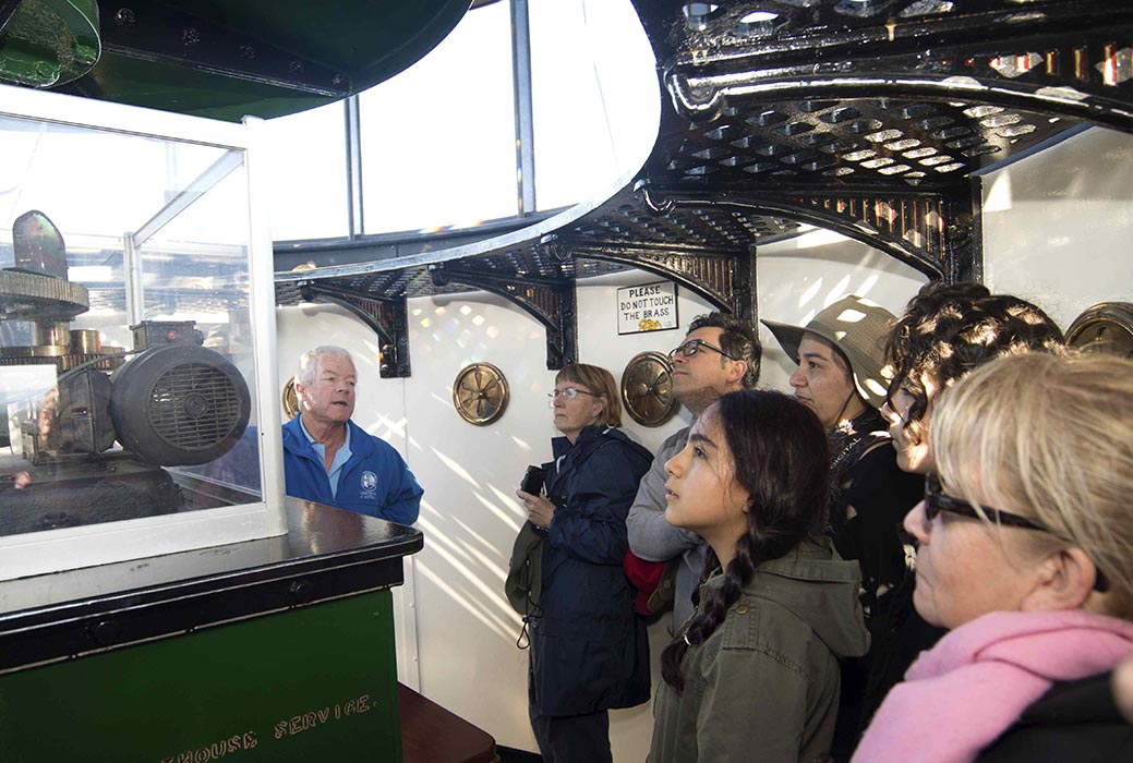Ian Clifford describes the working of the lens at Point Perpendicular - International Lighthouse Heritage weekend 2016
